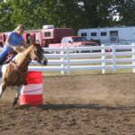 Brittany in warm ups at a local show she is riding T. 2008